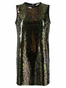 Nº21 sequinned snakeskin-effect shift dress - Gold