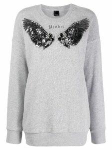 Pinko sequinned wing sweatshirt - Grey