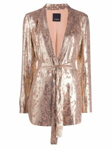 Pinko metallic blazer - Gold