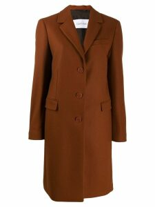 Calvin Klein single-breasted coat - Brown