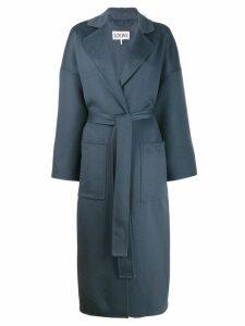 Loewe belted wrap coat - Blue