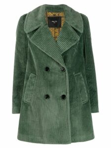 Paltò double breasted short coat - Green