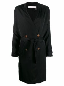 See By Chloé double breasted wrap coat - Black