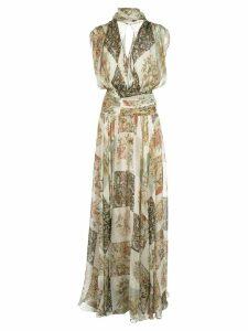 Oscar de la Renta floral print dress - NEUTRALS