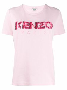 Kenzo embroidered logo T-shirt - Pink