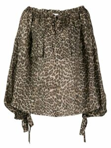 Zimmermann Suraya leopard print blouse - Brown