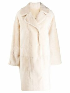 Drome reversible double-breasted coat - NEUTRALS