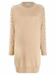 Fendi knitted jumper dress - Neutrals