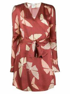 Forte Forte Ruggine wrap dress - Red