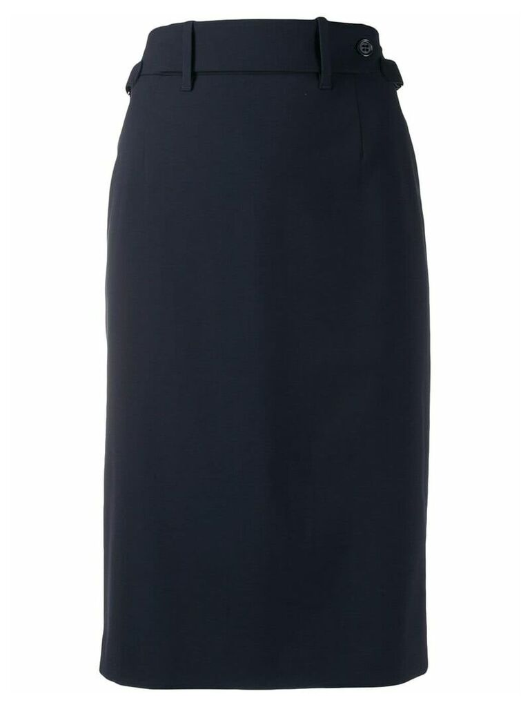 Red Valentino gabardine pencil skirt - Blue