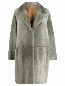 Drome reversible double-breasted coat - Grey