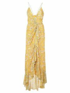 Jay Godfrey paisley print dress - Yellow