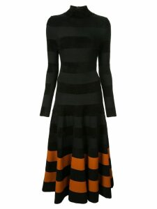 Oscar de la Renta striped skirt long dress - Black