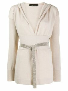 Fabiana Filippi hooded cashmere cardigan - Neutrals