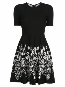 Oscar de la Renta floral knitted dress - Black