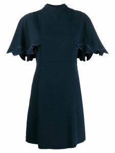 See By Chloé flutter sleeve mini dress - Blue