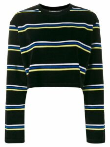 Alexander Wang cropped striped jumper - Black