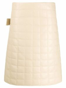 Bottega Veneta down quilted skirt - Neutrals