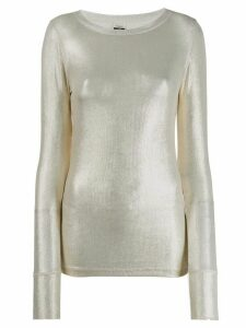 Pinko metallic knit jumper - Gold
