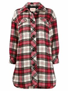 Twin-Set tartan print coat - Red