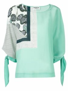 Essentiel Antwerp Told you printed blouse - Green