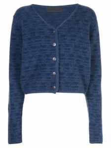 The Elder Statesman Static Knit Cashmere Cardigan - Blue