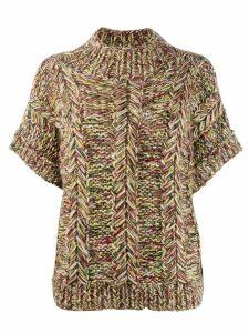 Ganni chunky knit sweater - Green