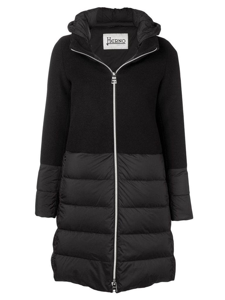 Herno knit upper padded jacket - Black
