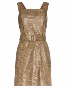 Nanushka Lorena vegan leather mini dress - Brown
