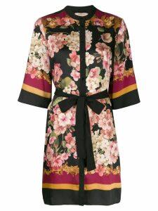 Twin-Set floral print dress - Black