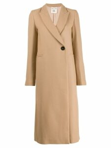 Semicouture single-breasted coat - NEUTRALS