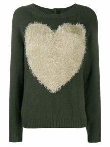 Twin-Set heart knit jumper - Green