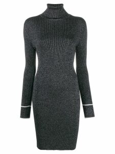 Off-White lurex knitted dress - Silver