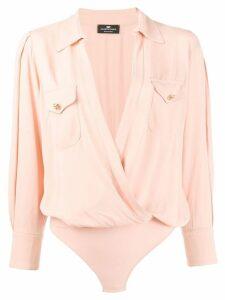 Elisabetta Franchi wrap V-neck shirt - Pink