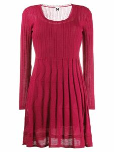 M Missoni patterned knitted dress - Red