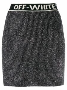 Off-White metallic knitted mini skirt - Grey