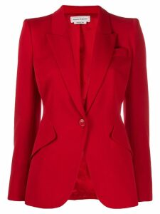 Alexander McQueen single-breasted blazer - Red