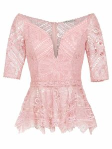 Martha Medeiros Tai lace top - Pink