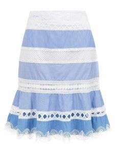 Martha Medeiros Camila short skirt - Blue