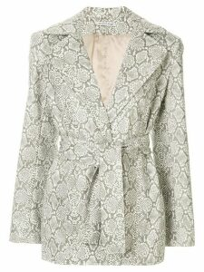 Georgia Alice snakeskin print jacket - White
