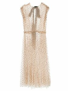 Khaite sheer polka dot dress - Neutrals