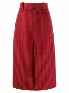 Balenciaga straight midi skirt - Red