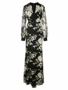 Badgley Mischka floral maxi dress - Black