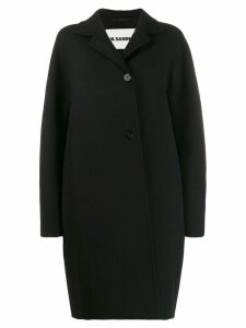 Jil Sander oversized single-breasted coat - Black