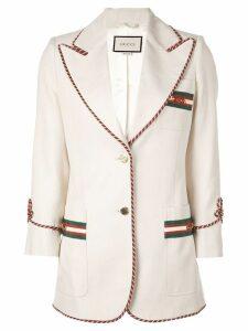 Gucci cord trim blazer - Neutrals