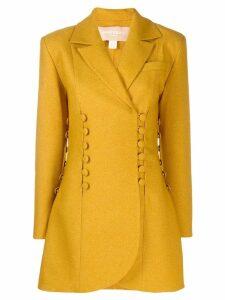 Matériel button panelled blazer jacket - Yellow