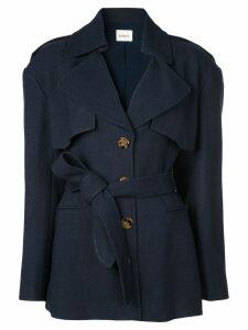 Khaite belted trench coat - Blue