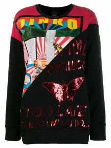 Pinko contrast panel sweatshirt - Black