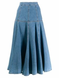 MSGM A-line denim skirt - Blue