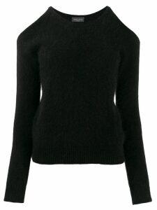 Roberto Collina cut-out sweater - Black